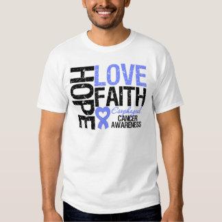 Esophageal Cancer Hope Love Faith Tee Shirt