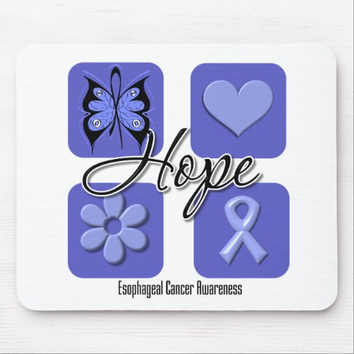 Esophageal Cancer Hope Love Inspire Awareness Mouse Pads
