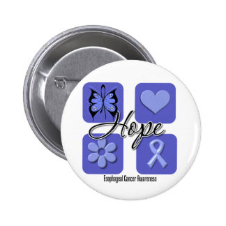 Esophageal Cancer Hope Love Inspire Awareness Pinback Button