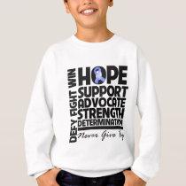 Esophageal Cancer Hope Support Advocate Sweatshirt