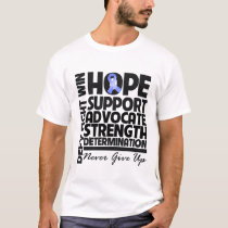 Esophageal Cancer Hope Support Advocate T-Shirt