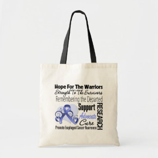 Esophageal Cancer Hope Tribute Collage Budget Tote Bag