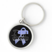 Esophageal Cancer - I am a Survivor Silver-Colored Round Keychain