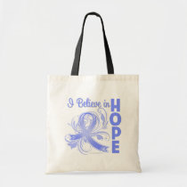 Esophageal Cancer I Believe in Hope Canvas Bag