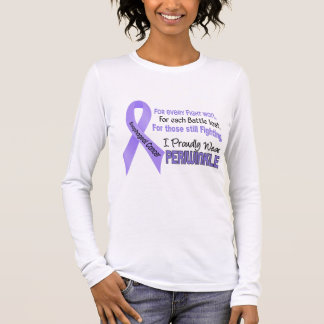 Esophageal Cancer I Proudly Wear Periwinkle Long Sleeve T-Shirt