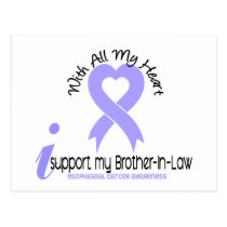 Esophageal Cancer I Support My Brother-In-Law Postcard