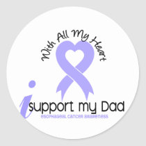 Esophageal Cancer I Support My Dad Classic Round Sticker