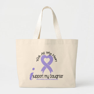 Esophageal Cancer I Support My Daughter Large Tote Bag