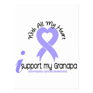 Esophageal Cancer I Support My Grandpa Postcard