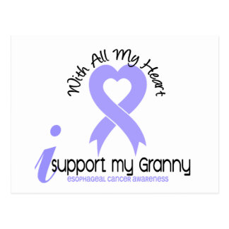 Esophageal Cancer I Support My Granny Postcard