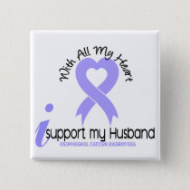 Esophageal Cancer I Support My Husband Button