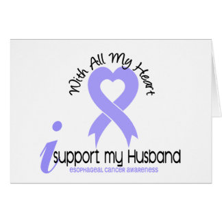 Esophageal Cancer I Support My Husband Greeting Card