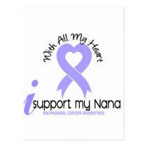 Esophageal Cancer I Support My Nana Postcard