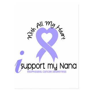 Esophageal Cancer I Support My Nana Postcard