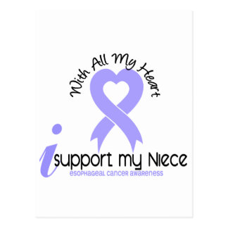 Esophageal Cancer I Support My Niece Postcard