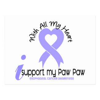 Esophageal Cancer I Support My Paw Paw Postcard