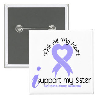 Esophageal Cancer I Support My Sister 2 Inch Square Button