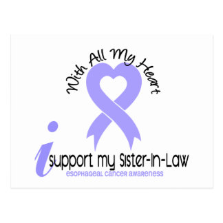 Esophageal Cancer I Support My Sister-In-Law Postcard