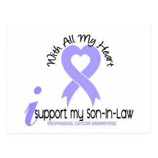 Esophageal Cancer I Support My Son-In-Law Postcard