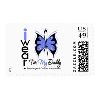 Esophageal Cancer I Wear Butterfly Ribbon DADDY Postage Stamps