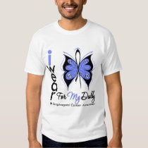 Esophageal Cancer I Wear Butterfly Ribbon DADDY Shirts