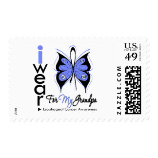 Esophageal Cancer I Wear Butterfly Ribbon GRANDPA Stamp