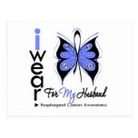 Esophageal Cancer I Wear Butterfly Ribbon HUSBAND Post Cards