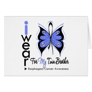 Esophageal Cancer I Wear Butterfly TWIN BROTHER Greeting Card