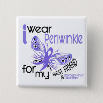 Esophageal Cancer I WEAR PERIWINKLE BEST FRIEND Button