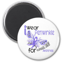Esophageal Cancer I WEAR PERIWINKLE FOR AWARENESS 2 Inch Round Magnet