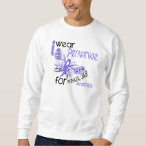 Esophageal Cancer I WEAR PERIWINKLE FOR AWARENESS Sweatshirt