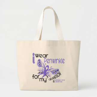 Esophageal Cancer I WEAR PERIWINKLE FOR GRANDSON Large Tote Bag