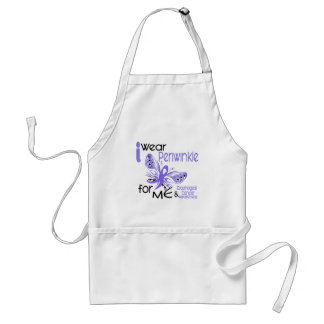 Esophageal Cancer I WEAR PERIWINKLE FOR ME 45 Adult Apron