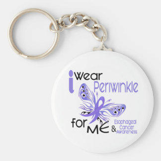 Esophageal Cancer I WEAR PERIWINKLE FOR ME 45 Keychain