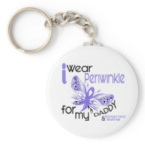 Esophageal Cancer I WEAR PERIWINKLE FOR MY DADDY Keychains