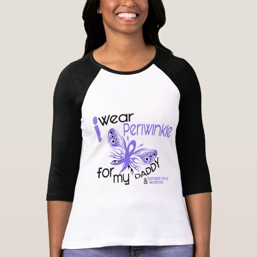 Esophageal Cancer I WEAR PERIWINKLE FOR MY DADDY Tee Shirts