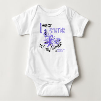 Esophageal Cancer I WEAR PERIWINKLE FOR MY FATHER Baby Bodysuit