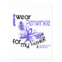 Esophageal Cancer I WEAR PERIWINKLE FOR MY FATHER Postcard