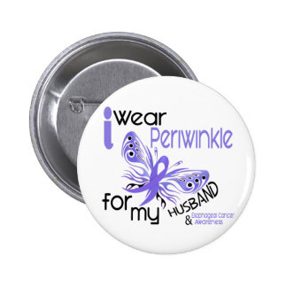Esophageal Cancer I WEAR PERIWINKLE FOR MY HUSBAND 2 Inch Round Button