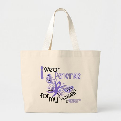 Esophageal Cancer I WEAR PERIWINKLE FOR MY HUSBAND Jumbo Tote Bag