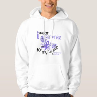 Esophageal Cancer I WEAR PERIWINKLE FOR MY HUSBAND Hooded Pullover