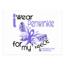 Esophageal Cancer I WEAR PERIWINKLE FOR MY NIECE Postcard