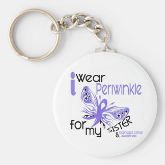 Esophageal Cancer I WEAR PERIWINKLE FOR MY SISTER Basic Round Button Keychain