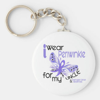 Esophageal Cancer I WEAR PERIWINKLE FOR MY UNCLE Basic Round Button Keychain