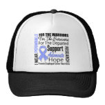 Esophageal Cancer I Wear Periwinkle Ribbon TRIBUTE Mesh Hat