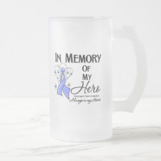 Esophageal Cancer In Memory of My Hero 16 Oz Frosted Glass Beer Mug