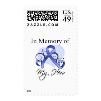 Esophageal Cancer In Memory of My Hero Stamp