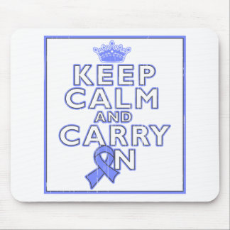 Esophageal Cancer Keep Calm and Carry ON Mouse Pads