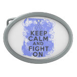 Esophageal Cancer Keep Calm and Fight On.png Belt Buckle