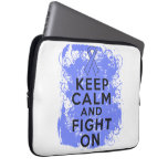 Esophageal Cancer Keep Calm and Fight On.png Laptop Computer Sleeve